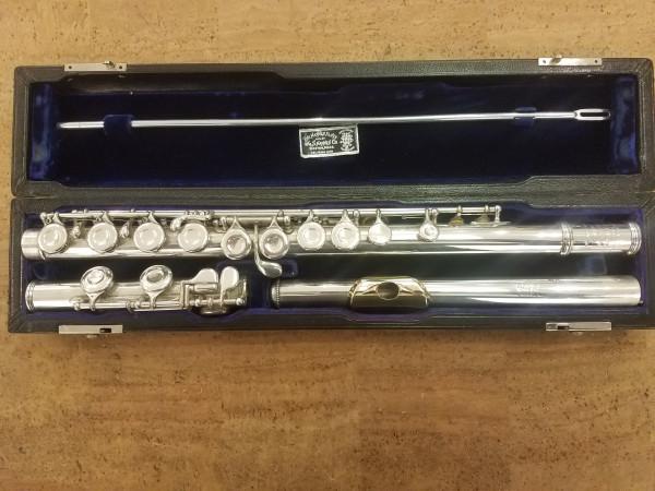 Haynes Flöte, Sterling Silber, 14K Gold-Mundlochkamin