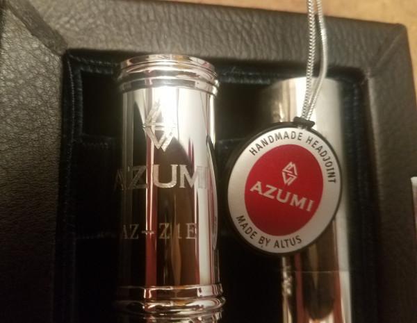 Azumi Z1E Flöte, versilbert, Altus Kopfstück